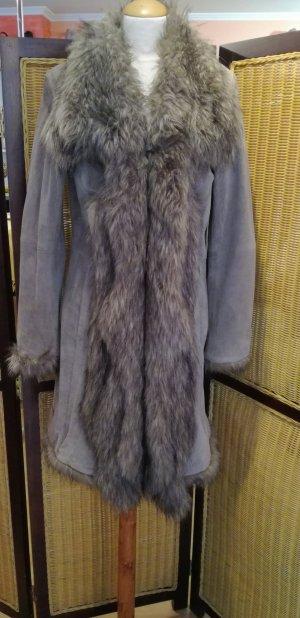 Patrizia Dini Cappotto in pelle beige-marrone-grigio Pelle