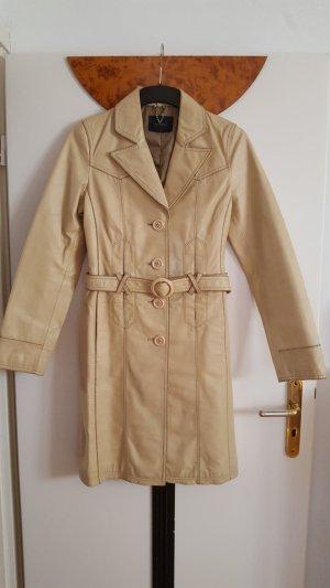 Vero Moda Manteau en cuir crème cuir