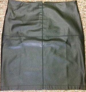 Street One Falda de cuero negro Imitación de cuero