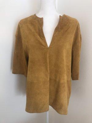 Massimo Dutti Leather Shirt multicolored