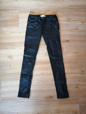 Daysie Leather Trousers black-gold-colored