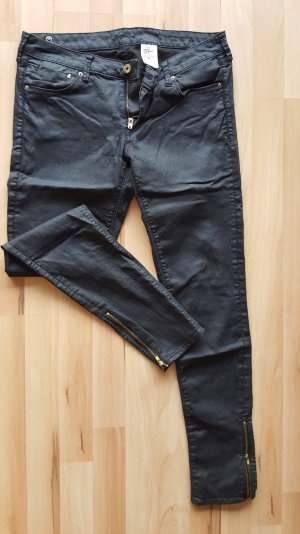 H&M Breeches black imitation leather