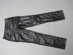 Sportalm Pantalón de cuero negro Lino