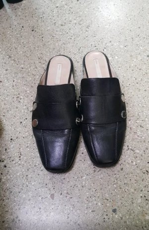 H&M Premium Mules black leather