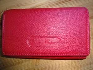 Portefeuille rouge brique