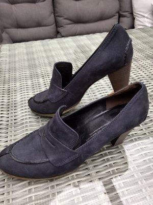 Kennel und Schmenger Loafers donkerblauw Leer