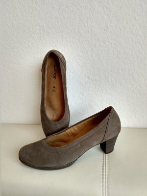 Gabor Comfort Pumps grey brown-brown leather