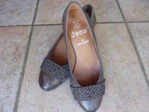 Jana Tacones Mary Jane gris oscuro-taupe Cuero