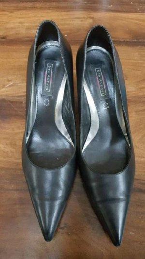 5th Avenue High Heels black leather