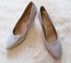 5th Avenue Tacones color plata Cuero