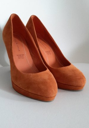5th Avenue Platform Pumps cognac-coloured-dark orange