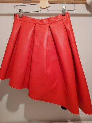 Guess Leather Skirt salmon