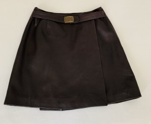 Helline Leather Skirt brown leather
