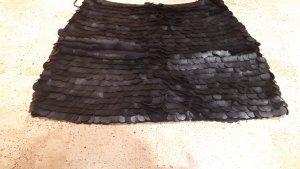 Zara Woman Rok van imitatieleder zwart