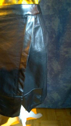 Toxik3 Leather Skirt black imitation leather
