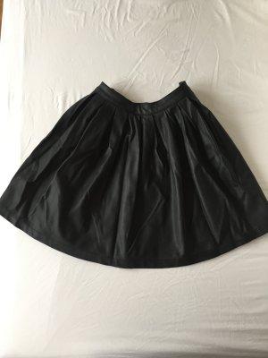 Only Leather Skirt black polyurethane