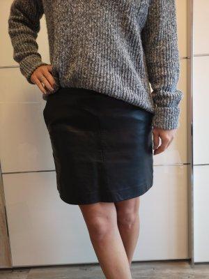 Zara Leren rok zwart