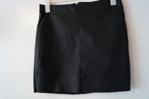 Only Leather Skirt black imitation leather