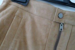 Comptoir des Cotonniers Falda de cuero beige Cuero