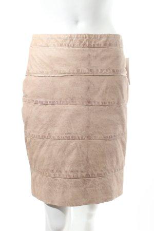 Lederrock beige Nude-Look