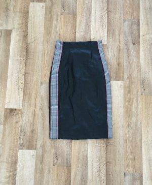 Zara Leather Skirt black-dark red