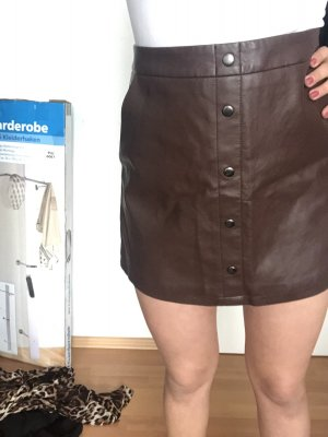 Leather Skirt brown