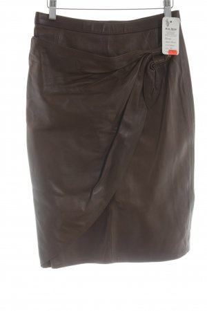 Leather Skirt brown casual look