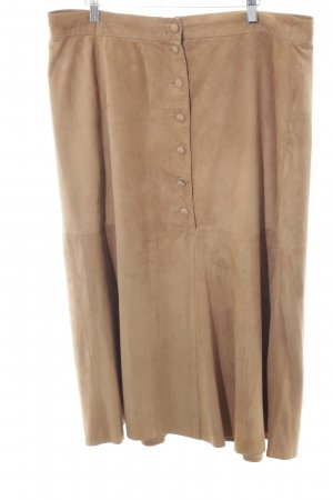 Leather Skirt camel extravagant style