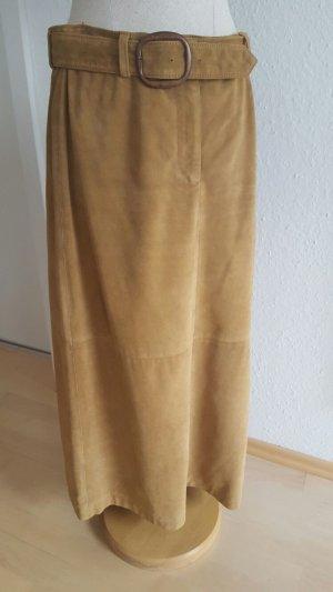Lederrock DKNY cognac in Größe 38