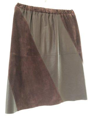 Stefanel Leather Skirt bordeaux