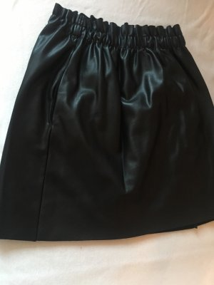 Zara Gonna in pelle nero