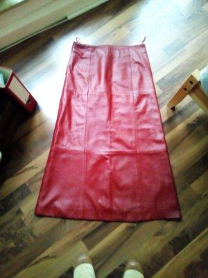 Lederrock Gr. 38, rotes Echtleder
