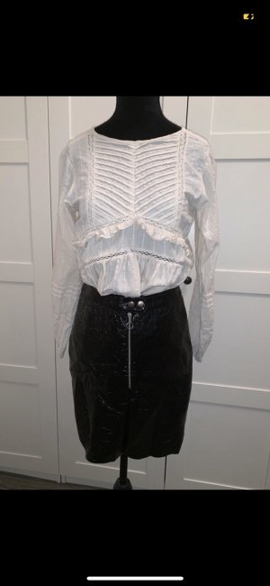 C&A High Waist Skirt black-silver-colored