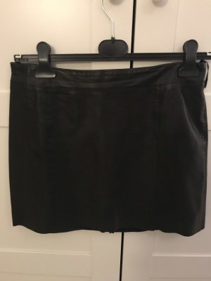 Marc O'Polo Leather Skirt black leather
