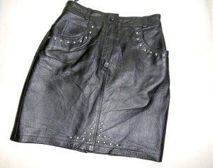 Lederrock Mini schwarz mit Nieten NEU Gr. 36/38
