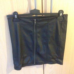 Lederrock mit Reißverschluss vorne Größe 36