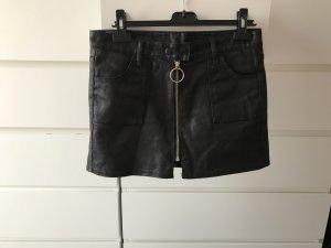 Lederrock mit Zipper aus Korea Wie neu