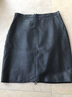 Goosecraft Falda de cuero negro