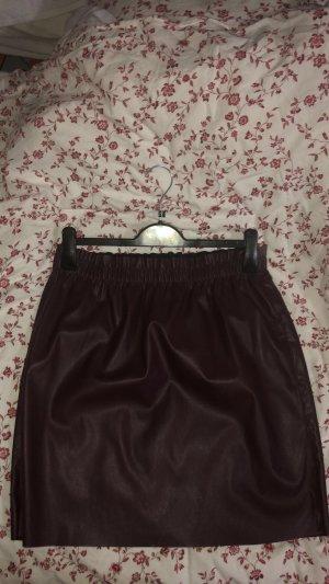 Vero Moda Leather Skirt brown violet