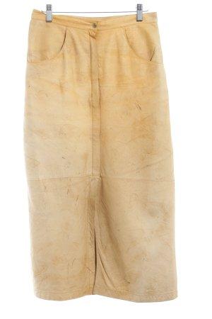 Lederrock sandbraun Vintage-Look