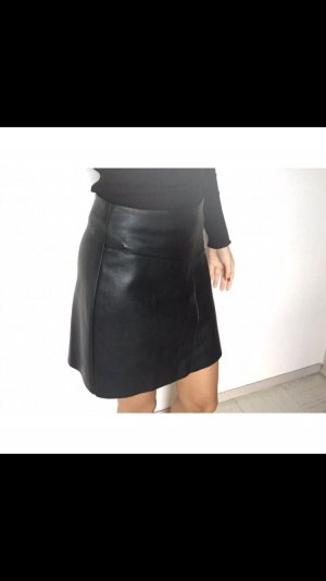 H&M Leather Skirt black