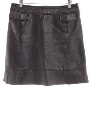 Lederrock schwarz Biker-Look