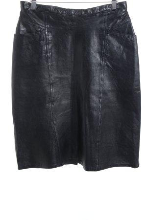 Leather Skirt black biker look