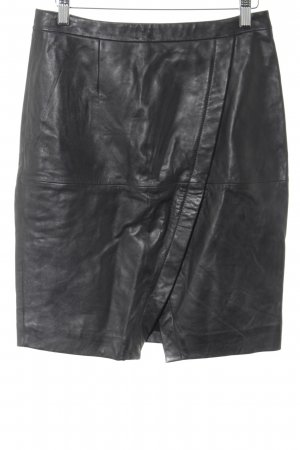 Leather Skirt black business style