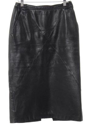 Lederrock schwarz Casual-Look