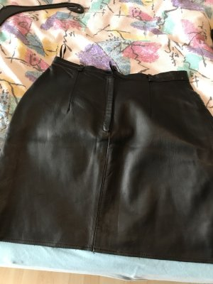 Arma Women Leather Skirt black leather
