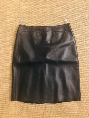 Mugler Leather Skirt black