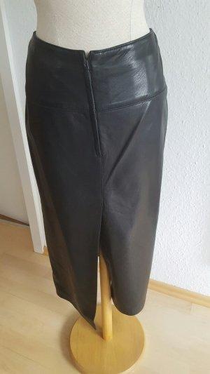 Lederrock schwarz in Größe 42