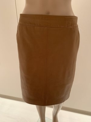 Set Leather Skirt camel