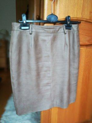 Alba Moda Pencil Skirt taupe leather